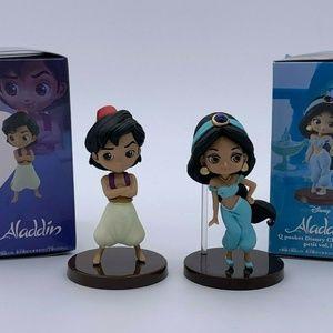 Aladdin & Jasmin Q Posket Disney Character Figure